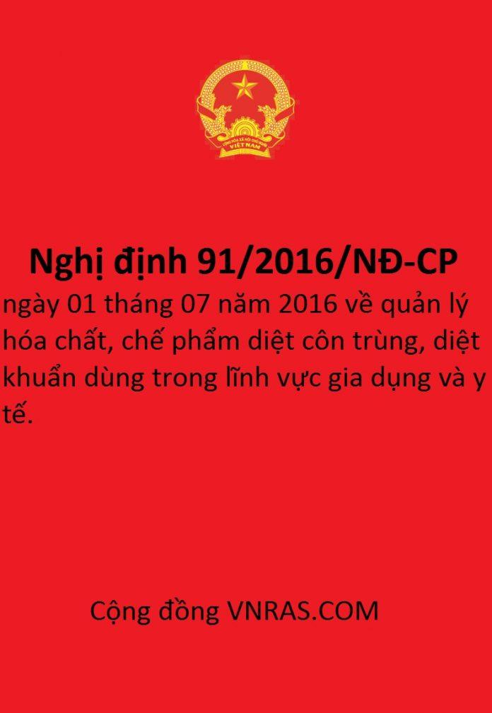nghị định 91/2016/NĐ-CP
