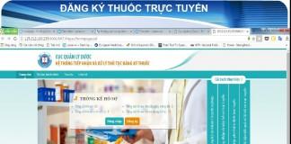 Hướng dẫn đăng ký thuốc online
