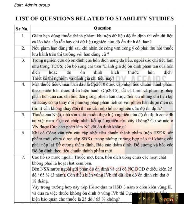 Câu hỏi về độ ổn định